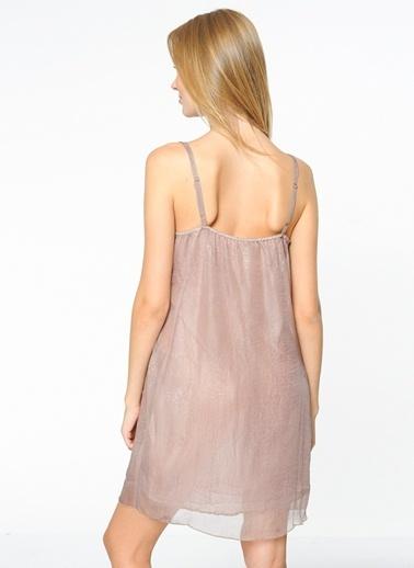 Askılı Kısa Şifon Elbise-Sense